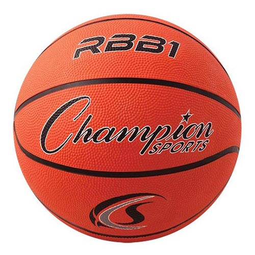 Champion Sports Rubber Basketballs - Official 29.5 - Size 7 - Orange