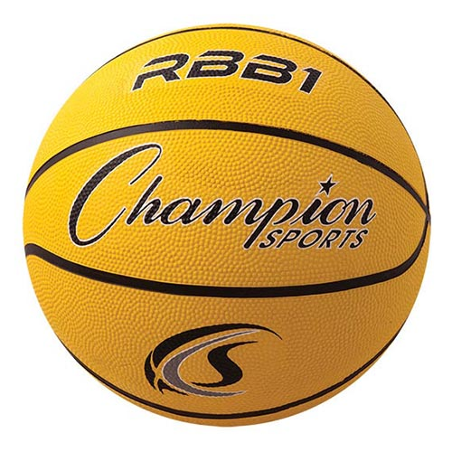 Champion Sports Rubber Basketballs - Official 29.5 - Size 7 - Yellow