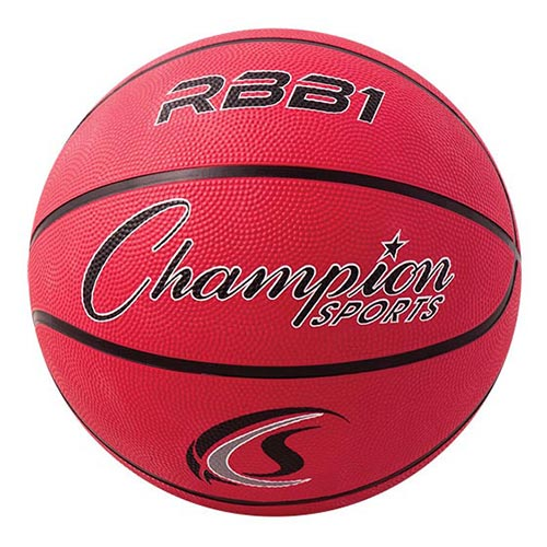 Champion Sports Rubber Basketballs - Official 29.5 - Size 7 - Red