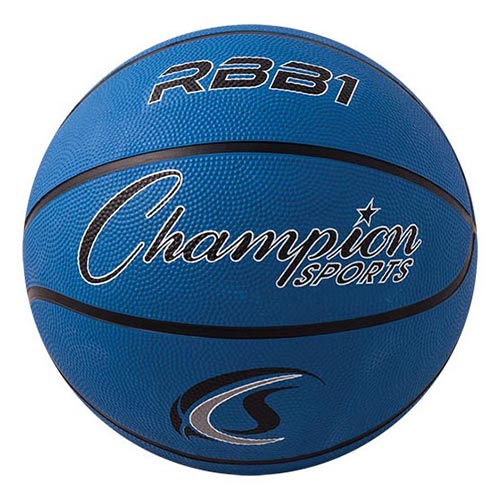 Champion Sports Rubber Basketballs - Official 29.5 - Size 7 - Bllue