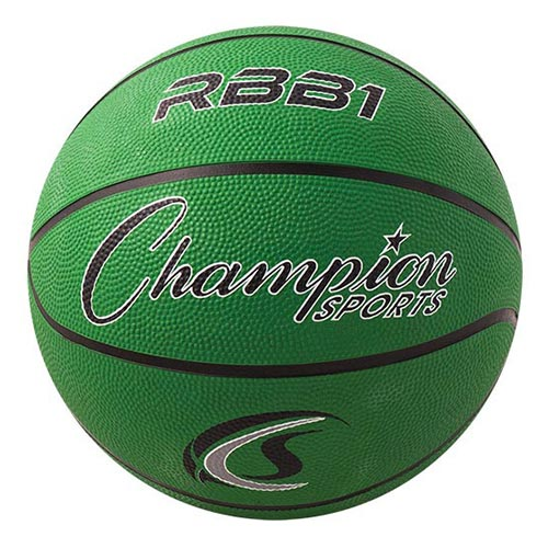Champion Sports Rubber Basketballs - Official 29.5 - Size 7 - Green