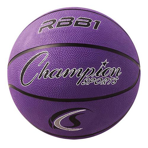 Champion Sports Rubber Basketballs - Official 29.5 - Size 7 - Purple