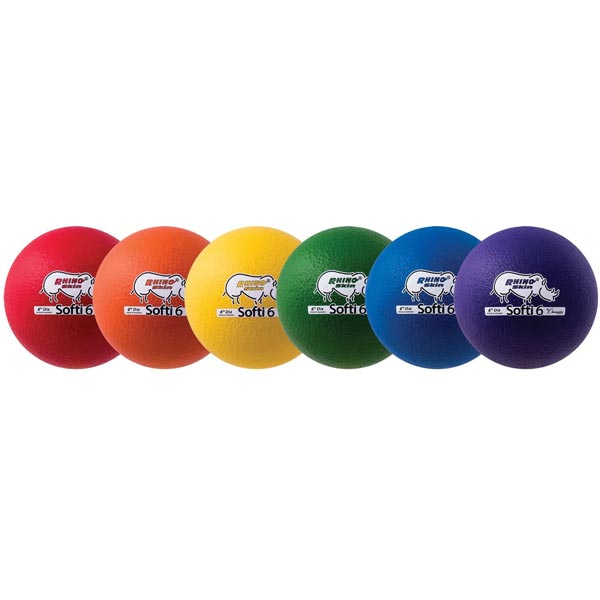 "Champion Sports Rhino Skin Softi Balls - 6.3"" (Set of 6)"