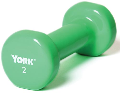 Vinyl-Coated Dumbbells - 2 lbs.