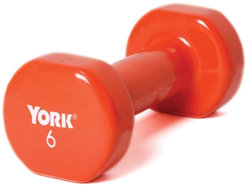 Vinyl-Coated Dumbbells - 6 lbs.