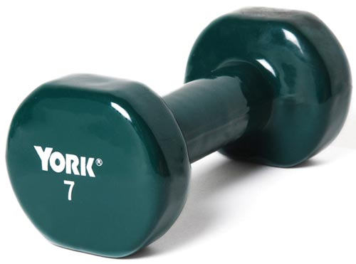 Vinyl-Coated Dumbbells - 7 lbs.