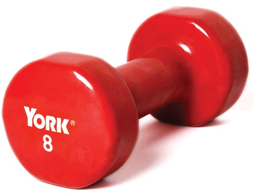Vinyl-Coated Dumbbells - 8 lbs.