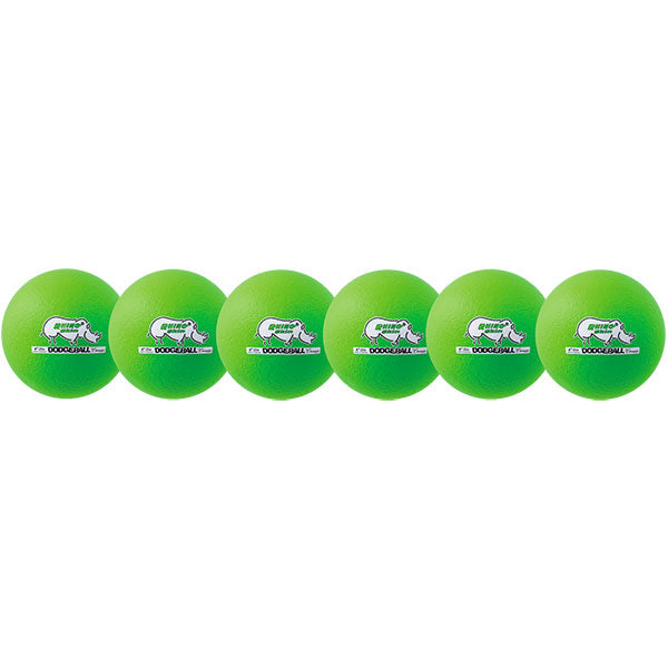 Neon Green Rhino Skin Dodgeball Set