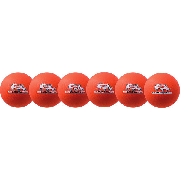 Neon Orange Rhino Skin Dodgeball Set