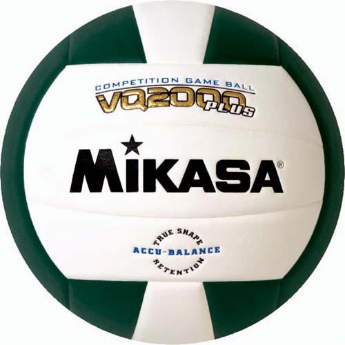 Mikasa VQ2000 Micro Cell Composite Volleyballs - Dark Green/White