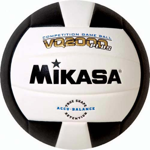 Mikasa VQ2000 Micro Cell Composite Volleyballs - Black/White
