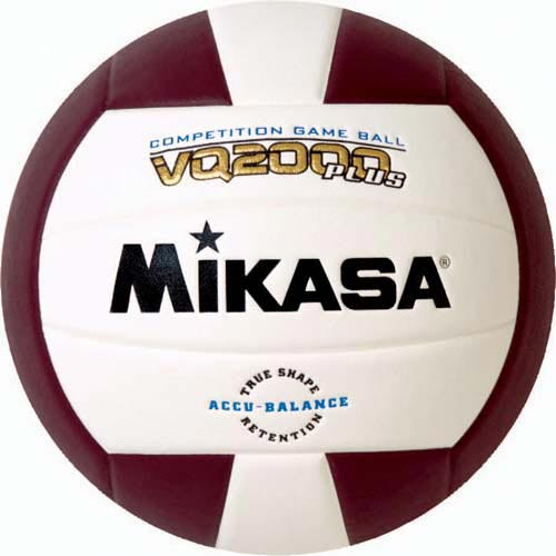 Mikasa VQ2000 Micro Cell Composite Volleyballs - Maroon/White