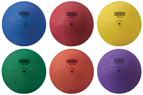 "8.5"" Rainbow Set of Tachikara Playground Balls"