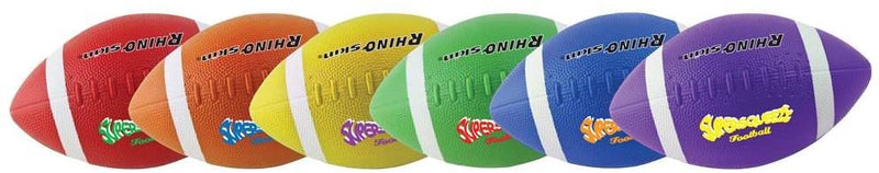 Champion Sports Rhino Super Squeeze Footballs - Set of 6