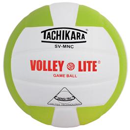 Tachikara SVMNC Volleyball - Lime Green/White