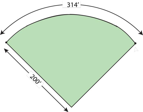 TempFence 314' Outfirld Diagram