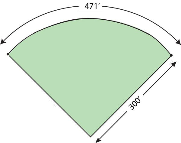 TempFence 471' Outfirld Diagram
