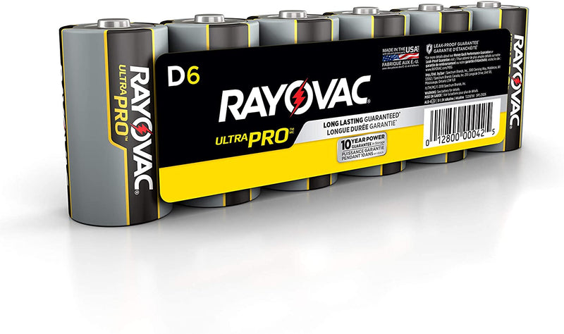 D Alkaline Batteries - 6 Pack