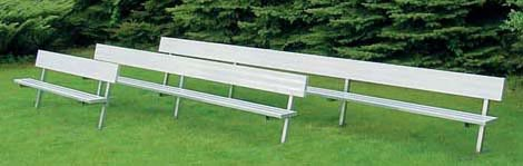 Permanent Player Benches with Backs