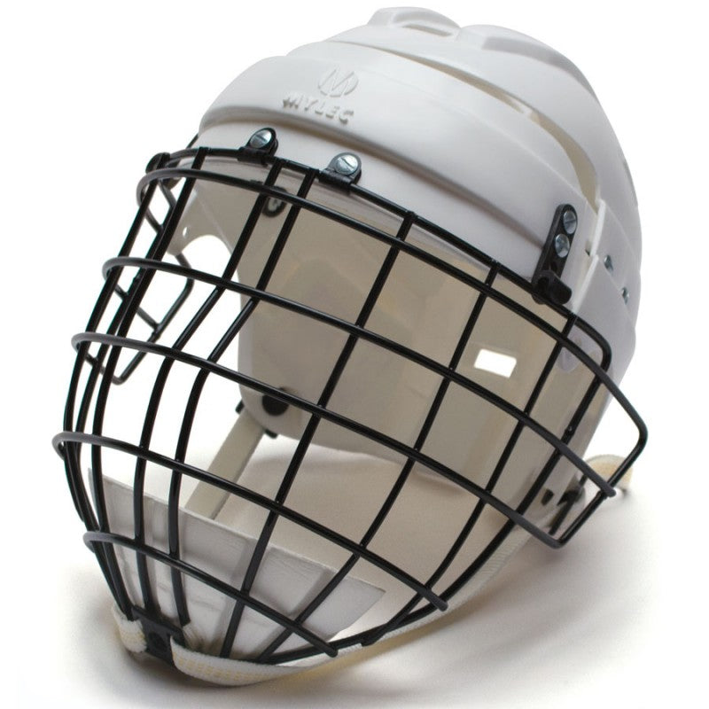 Hockey Helmet w/ Wire Face Cage - Black