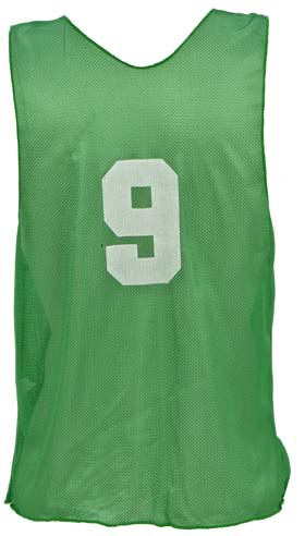 Numbered Youth Micro Mesh Vests - Green