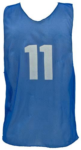Numbered Youth Micro Mesh Vests - Blue