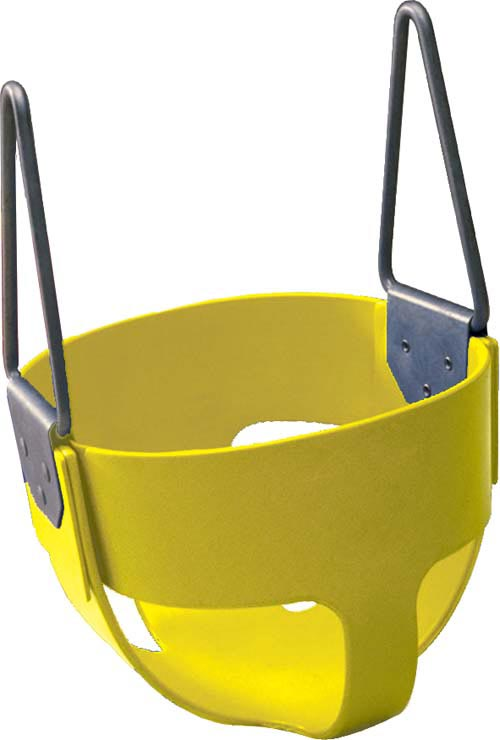 Yellow  Enclosed Infant Swing Seat