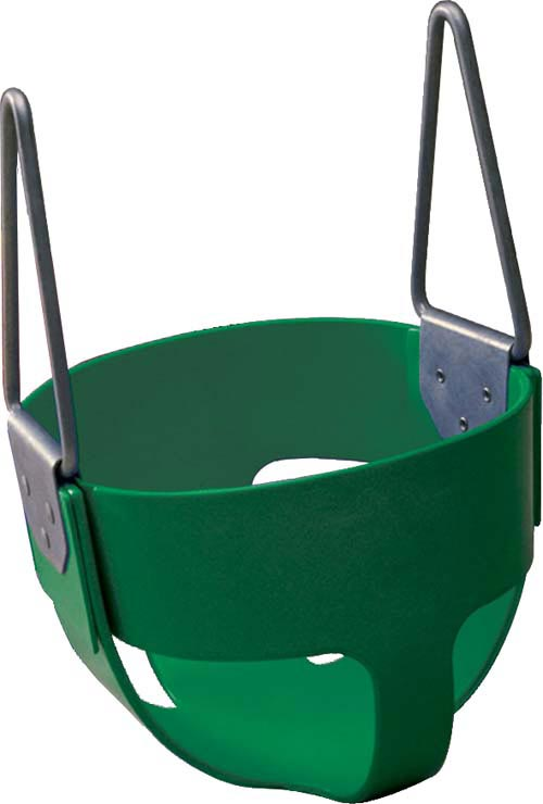 Green  Enclosed Infant Swing Seat