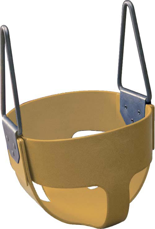 Tan  Enclosed Infant Swing Seat