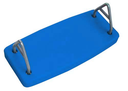 Blue Rotational Molded Flat Swing Seat