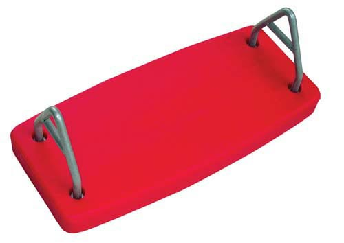 Red Rotational Molded Flat Swing Seat
