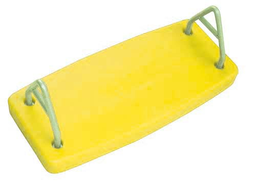 Yellow Rotational Molded Flat Swing Seat