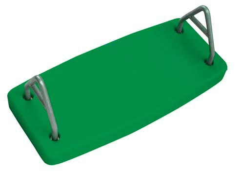 Green Rotational Molded Flat Swing Seat