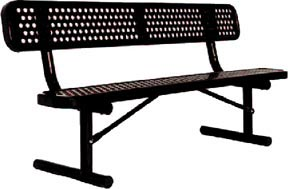 Portable Heavy-Duty Bench with Back