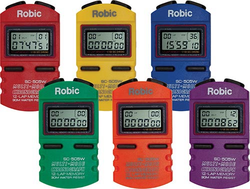 Robic SC505W 12 Memory Stopwatches