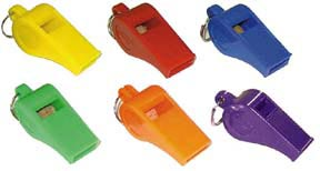 Rainbow Set of 6 Officials Whistles