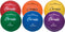 Champion Sports Colored Rubber Volleyballs - Set of 6