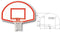 Lifeguard White Aluminum Backboard w/ Shooters' Square