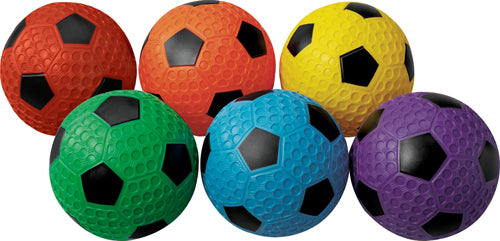 Mac-T Dimpled Rubber Soccer Balls - Size 4 (Set of 6)
