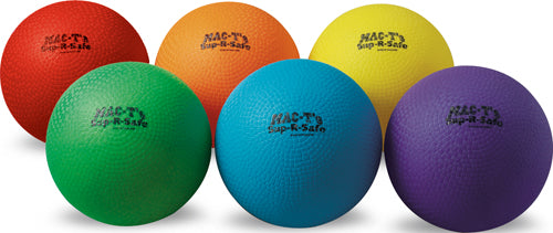 "MAC-T Sup-R-Safe Playground Balls - 8.5"" (Set of 6)"