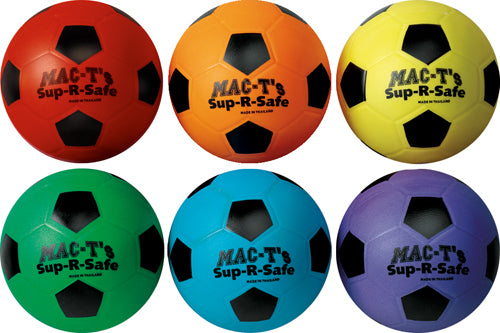 "Mac-T Sup-R-Safe Soccer Balls - 6"" Dia. (Set of 6)"