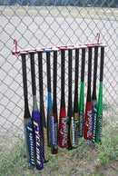 12 Bat Fence Rack