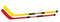 "Cosom 36"" Hockey Sticks (1 Red/1 Yellow)"