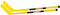"Cosom 36"" Hockey Sticks (2 Yellow)"