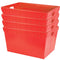 "Large Plastic Nestable Storage Totes - 28"" (Red)(Set of 4)"
