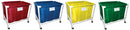 Large PVC/Nylon Equip. Carts - Set of 4