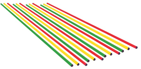 "Colored Poles - 56"" (Set of 12)"