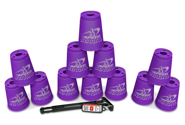 Set of 12 Speed Stacks Cups - Purple