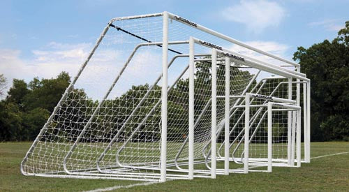 "3"" Classic Alumagoal Club Goals - White Powder-Coated - 8'H x 24'W"