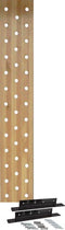 "38-Hole 12"" Maple Pegboard w/ Mounting Bracket"